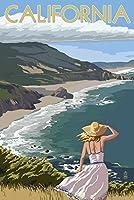 カリフォルニア–Coastシーン 9 x 12 Art Print LANT-55750-9x12