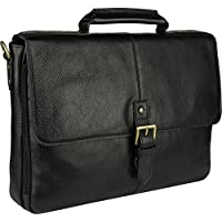 HIDESIGN Charles Medium Briefcase, Black, CB-001