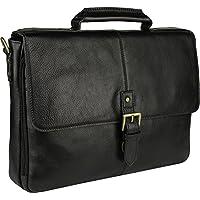 HIDESIGN Charles Medium Briefcase, Black, CB-001