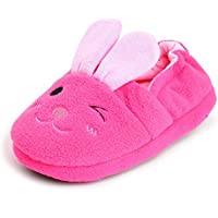 Estamico Baby Girls' Cotton Bunny Slipper