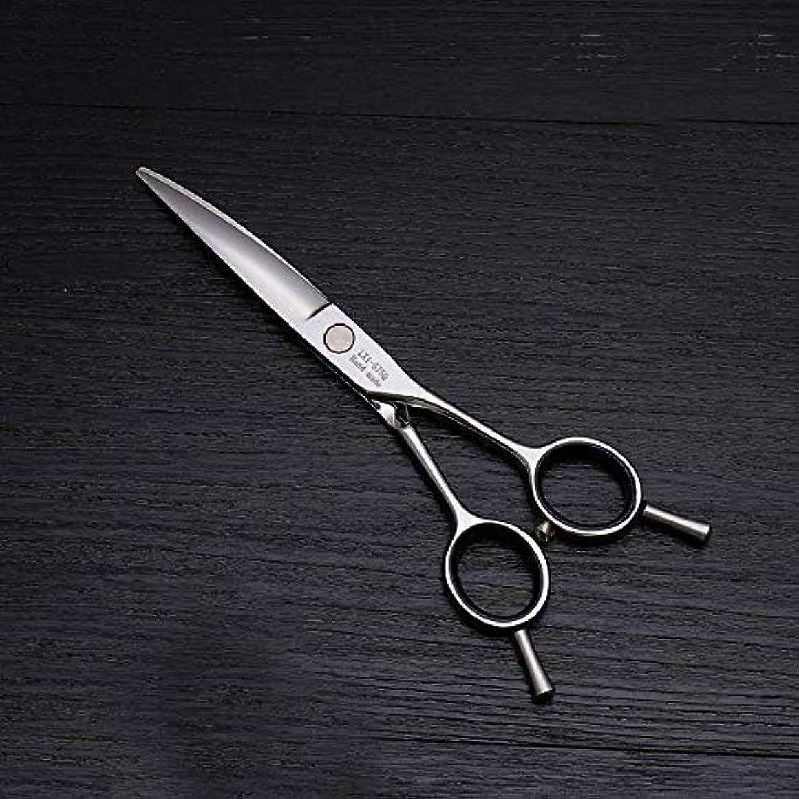 責任者スナッチ職業理髪用はさみ 6インチ美容院プロのヘアカット兼用バリカン、ステンレス鋼トリマー毛切断鋏ステンレス理髪はさみ (色 : Silver)