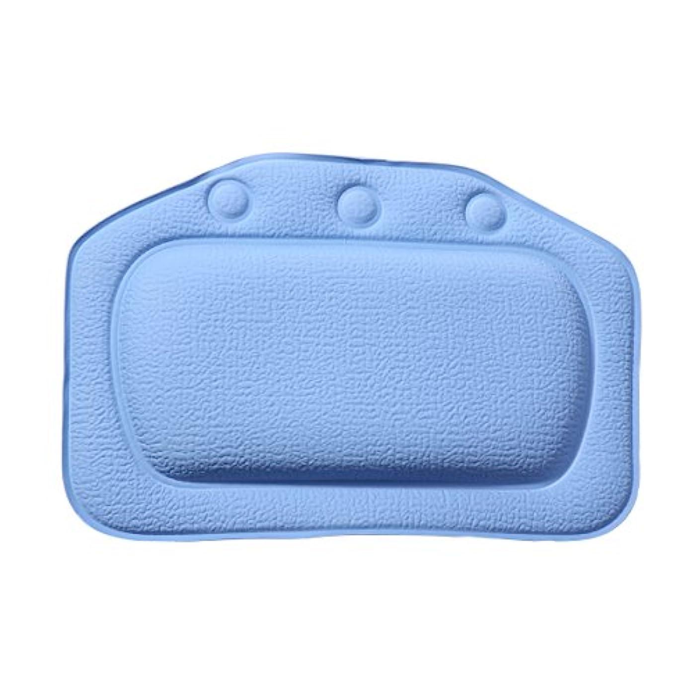 チャーター簡単に仕方ROSENICE お風呂まくら バスピロー 3つ吸盤 超强吸着 滑り止め PVC バスタブ 浴槽枕 枕 安眠 人気 肩こり 熟睡 浴用品 グッズ 横向き枕 防水(ダークブルー)