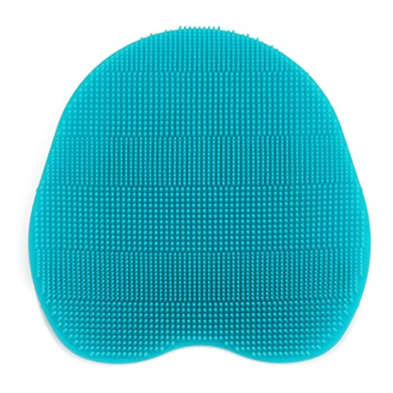 一般マート故障Kapmore シリコンブラシ ウォッシュ ボディブラシ マッサージ シャワー 肌にやさしい 体洗い 風呂 フットケア 4色選択可能 衛生 角質取り 毛穴清潔 泡立ち 多機能 (シアン)