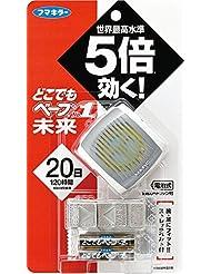 どこでもベープ 携帯虫よけ №1未来セット メタリックグレー 本体+取替×12