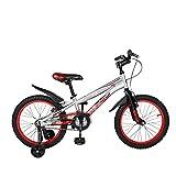 Cyfie ホーク 子供用自転車 18インチ 補助輪付 前後泥よけ付 男の子 女の子 小学生  簡単に安装 スポーティサドル (レッド)