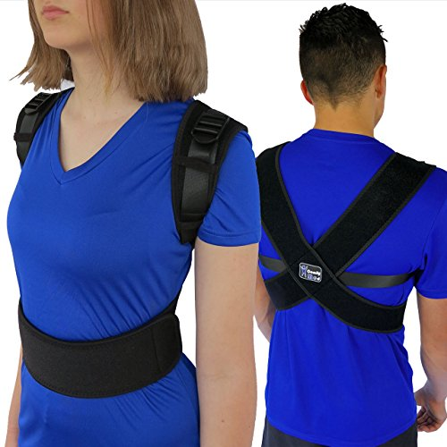"""ComfyMed® Posture Corrector Clavicle Chest Support Brace for Men and Women CM-PB16 (REG 29"""" to 40"""") Medical Device to Improve Bad Posture, Shoulder Alignment, Upper Back Pain Relief"""