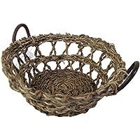 丸和貿易 かご 天然素材 リノバスケット ラウンド 400683201