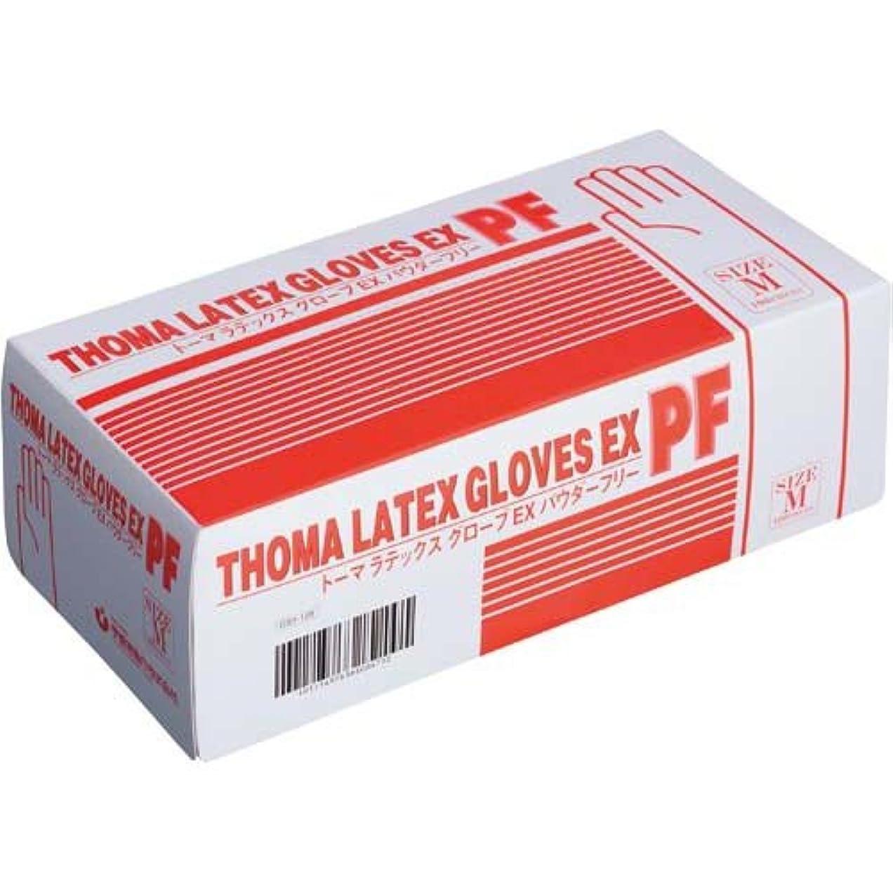 不可能な集中的なポップ宇都宮製作 トーマラテックスグローブEX粉無M100枚入×10