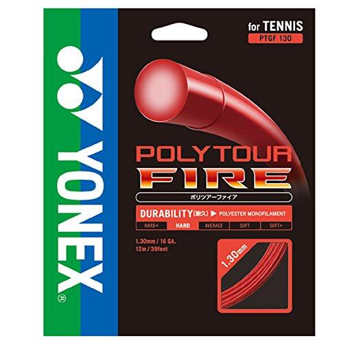 【12Mカット品】ヨネックス ポリツアー ファイア(1.20mm/1.25mm/1.30mm)PTF120 PTF125 PTF130 硬式テニスガット ポリエステルガット(YONEX POLY TOUR FIRE) [並行輸入品]