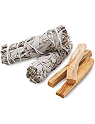 (Medium) - Smudge Kit - Sage, Palo Santo, Abalone Shell, Feather & More 3 Options by JL Local (Medium)