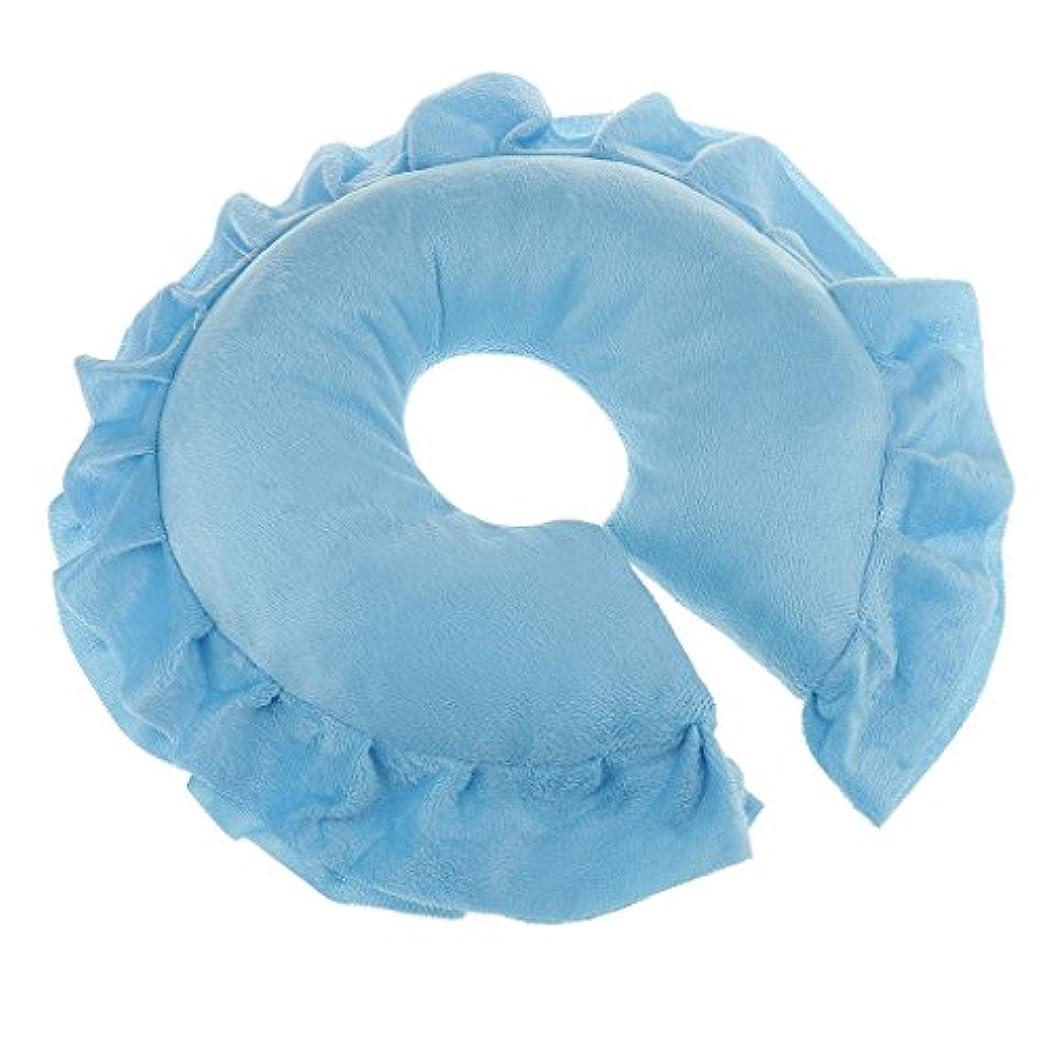 思い出すキー地震自動車用 マッサージ クッション 洗濯可能カバー ソフト 全6選択 - ブルー