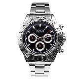 [スワンユニオン] swanunion メンズ 腕時計 自動巻き クロノグラフ シルバー ステンレス t160