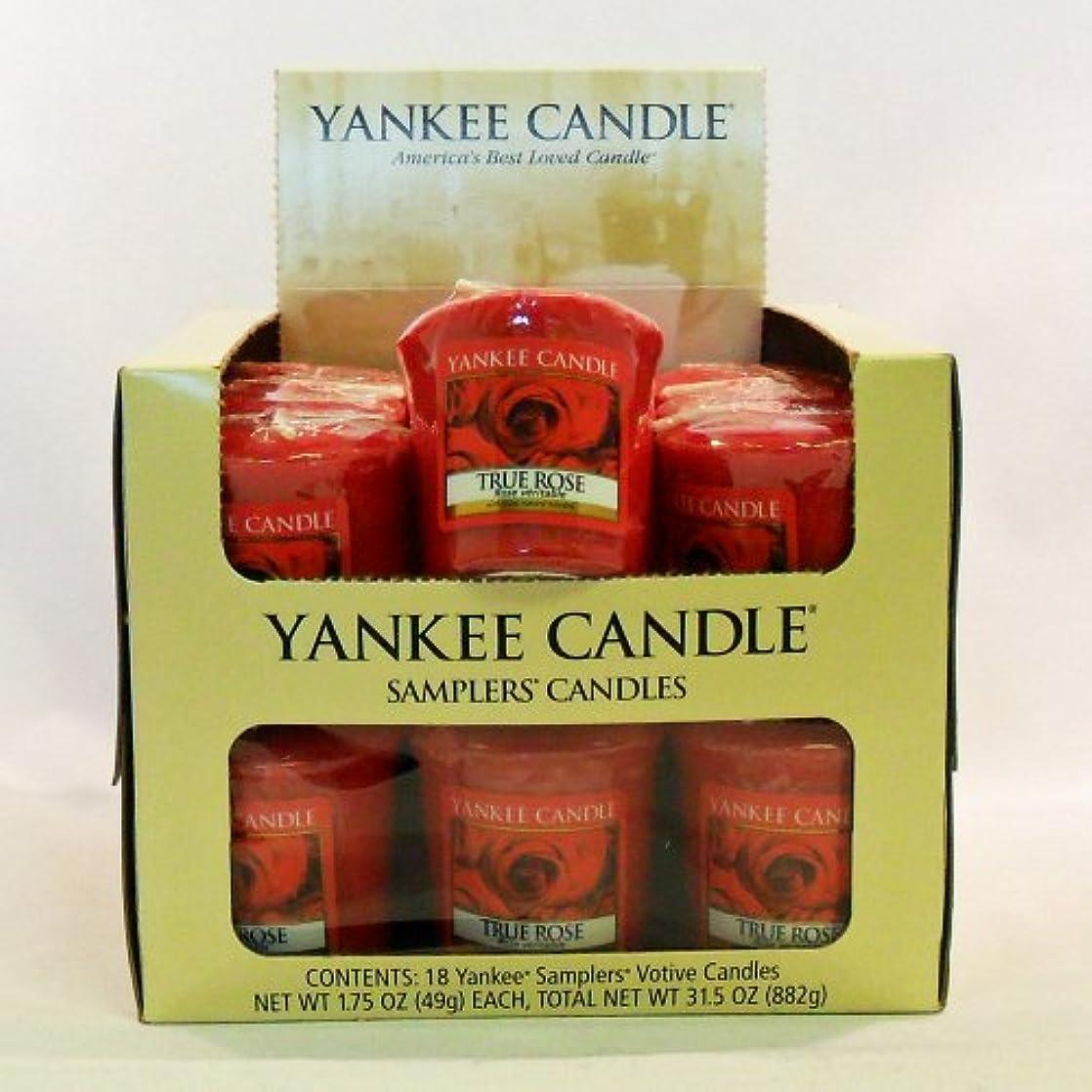 箱貸す式Yankee candle-18 X TrueローズVotiveサンプラーキャンドル – 新しい香りfor 2012 。