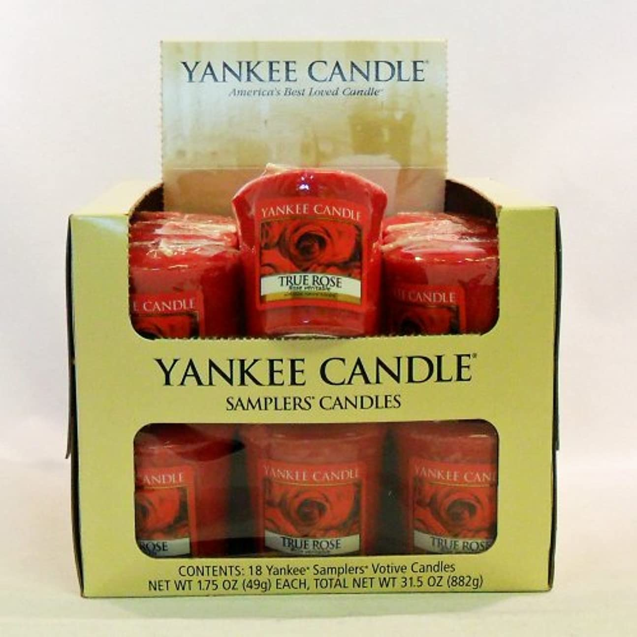 眠っているポンド確執Yankee candle-18 X TrueローズVotiveサンプラーキャンドル – 新しい香りfor 2012 。