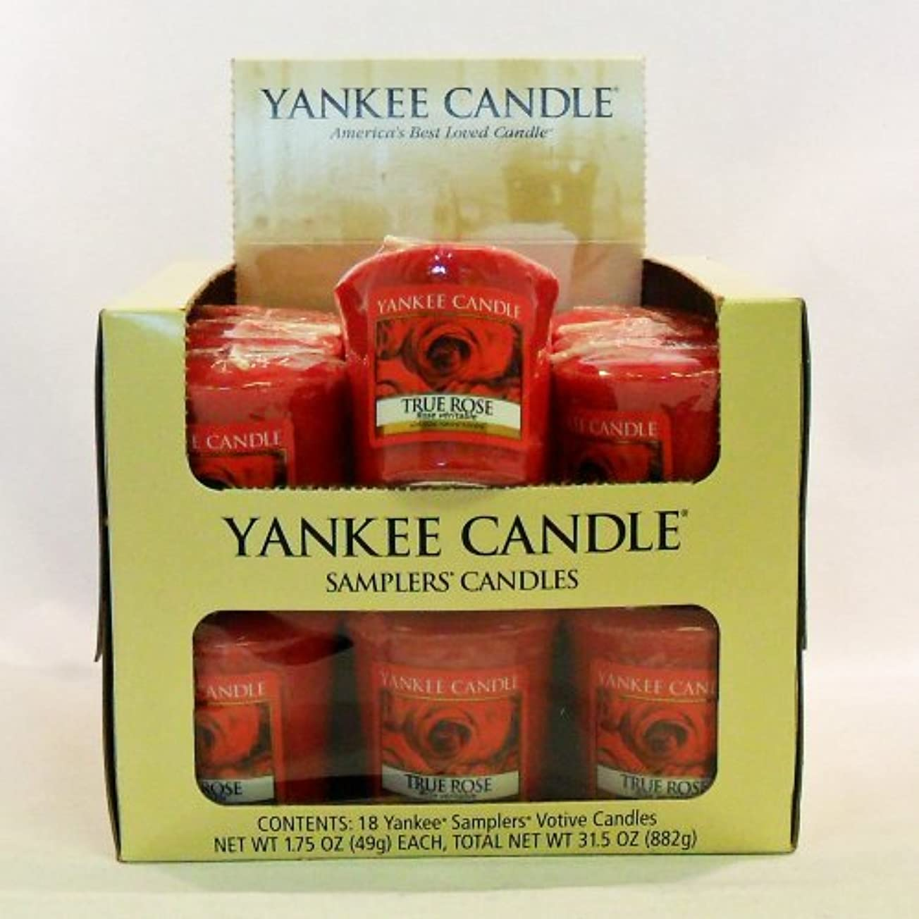 祝福するミント有効Yankee candle-18 X TrueローズVotiveサンプラーキャンドル – 新しい香りfor 2012 。