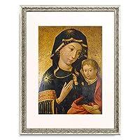 ハンス・ホルバイン Hans Holbein(父) 「Maria mit dem Jesusknaben. Hindelanger Madonna. 1493」 額装アート作品