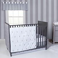Trend Lab Stag Head 3 Piece Crib Bedding Set Gray/White [並行輸入品]