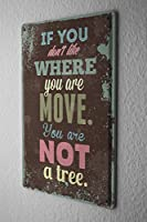 ブリキ看板 Tin Sign Nostalgic Motif no tree