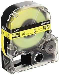 キングジム テープカートリッジ テプラPRO 6mm SC6Y 黄