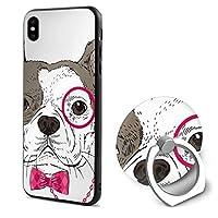 かわいい子犬 アップルのIphone X携帯電話シェル落下防止リングブラケットIphone X保護カバー人気の携帯電話シェルユニセックス