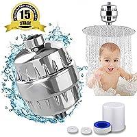 15ステージシャワーフィルタforハード水フィルタビタミンC – Removes塩素、不純物不快な臭い – シャワーフィルター – For Anyヘッドとハンドヘルドシャワー