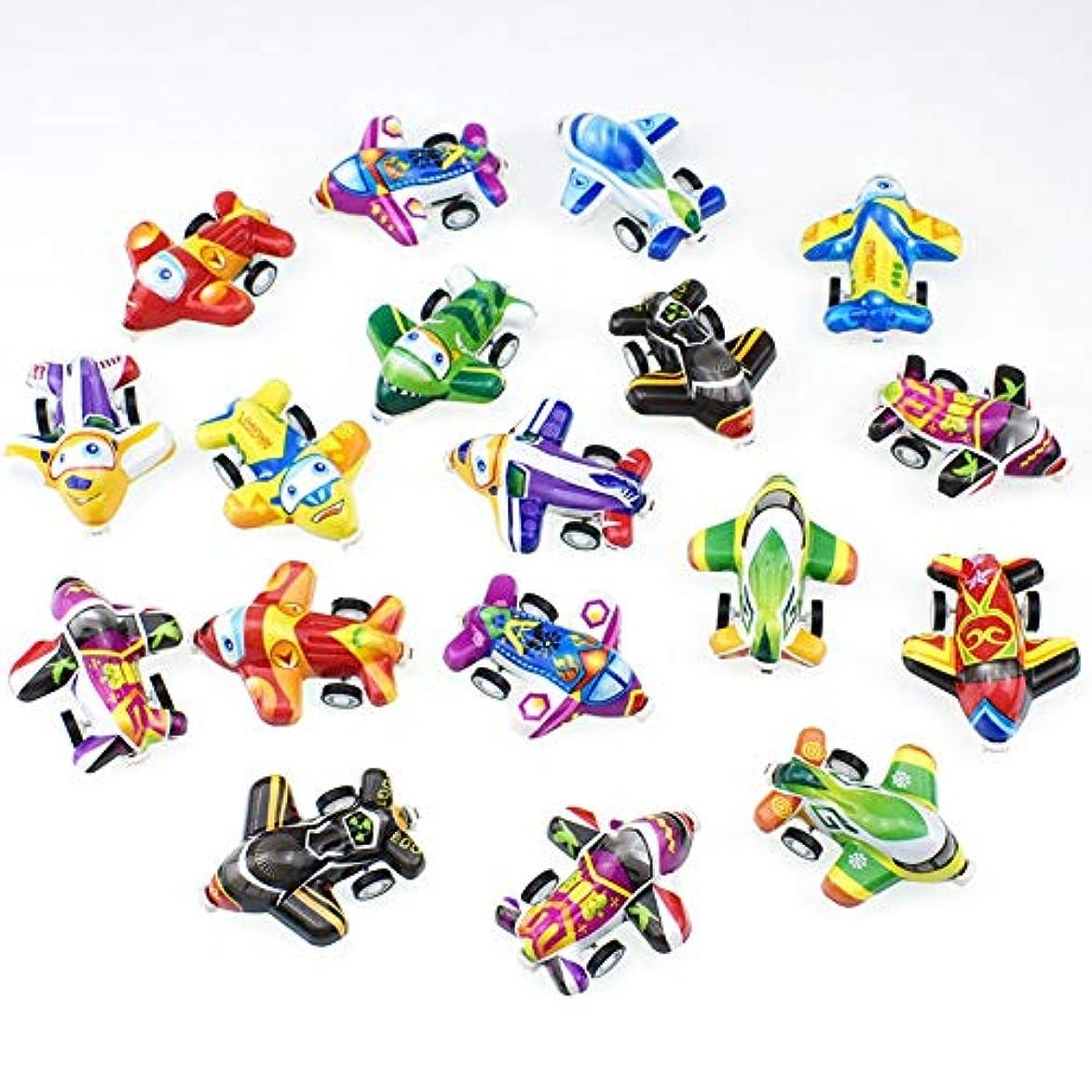 残基水族館チャンバーRabugoo 10個/セット漫画のミニ飛行機の子供たちはカプセルのおもちゃセットを引き戻す