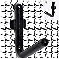 WallPeg Locking PEG Hook Kit - 100 L Pegboard Hooks Tool Storage Garage Organizer Choice B/W (100, Black)