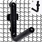 WallPeg Locking PEG Hook Kit - 100 L Pegboard Hooks Tool Storage Garage Organizer Choice B/W (100, Black)