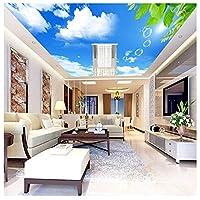Wxmca カスタム3D天井壁画壁紙ホテルレストランリビングルーム天井背景の装飾-350X250Cm