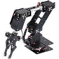 KESOTO アクリル+金属製 DIY組み立て ロボットアーム メカニカルアーム 6-dof 力学 教育玩具