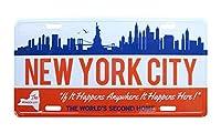 ショーエンタープライズ コマーシャルプレート (CMP-015:NEW YORK) 白 15×30×1cm