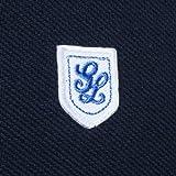 Glacon Round Collar Pique Polo Shirt: Navy