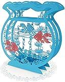 サンリオ(Sanrio) サマーカード レーザーカット水色金魚鉢 JSP 44-1 S 4244