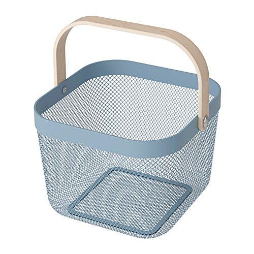 IKEA/イケア RISATORP :バスケット25x26x18 cm ブル...