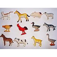 toymytoyプラスチックモデル動物Figures Kids Toyファーム動物セットクリスマスストッキングフィラー12pcs
