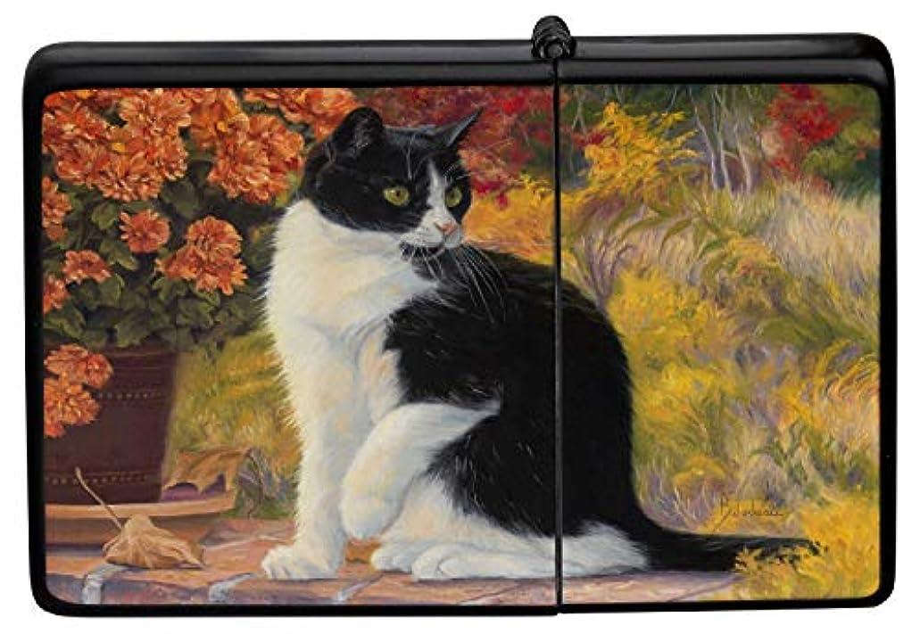 解放シェアシンプルなPocket Vintage Windproof lighter ライター Brushed Oil Refillable Cat in the garden