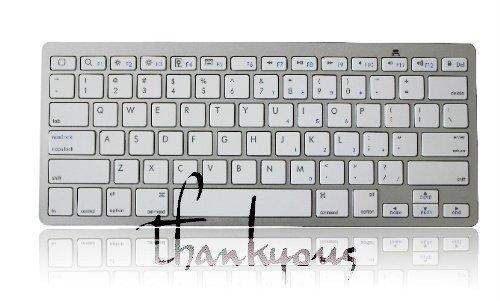 新しいiPad3/iPad2/iPhone用 ブルートゥースキーボード ホワイト Bluetooth Keyboard for New iPad 3/iPad 2/iPhone White / 39s