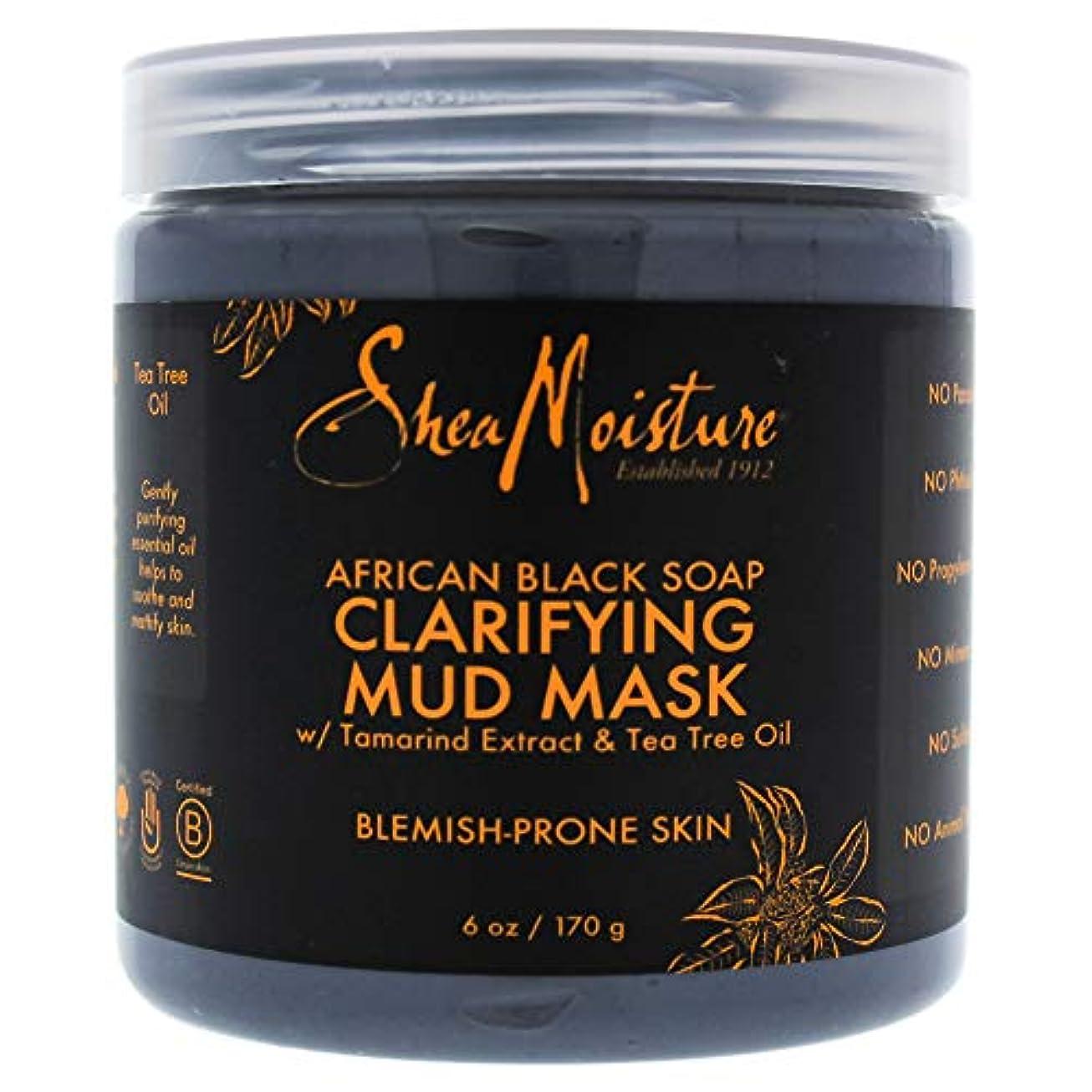 ポーンすり肩をすくめるAfrican Black Soap Clarifying Mud Mask