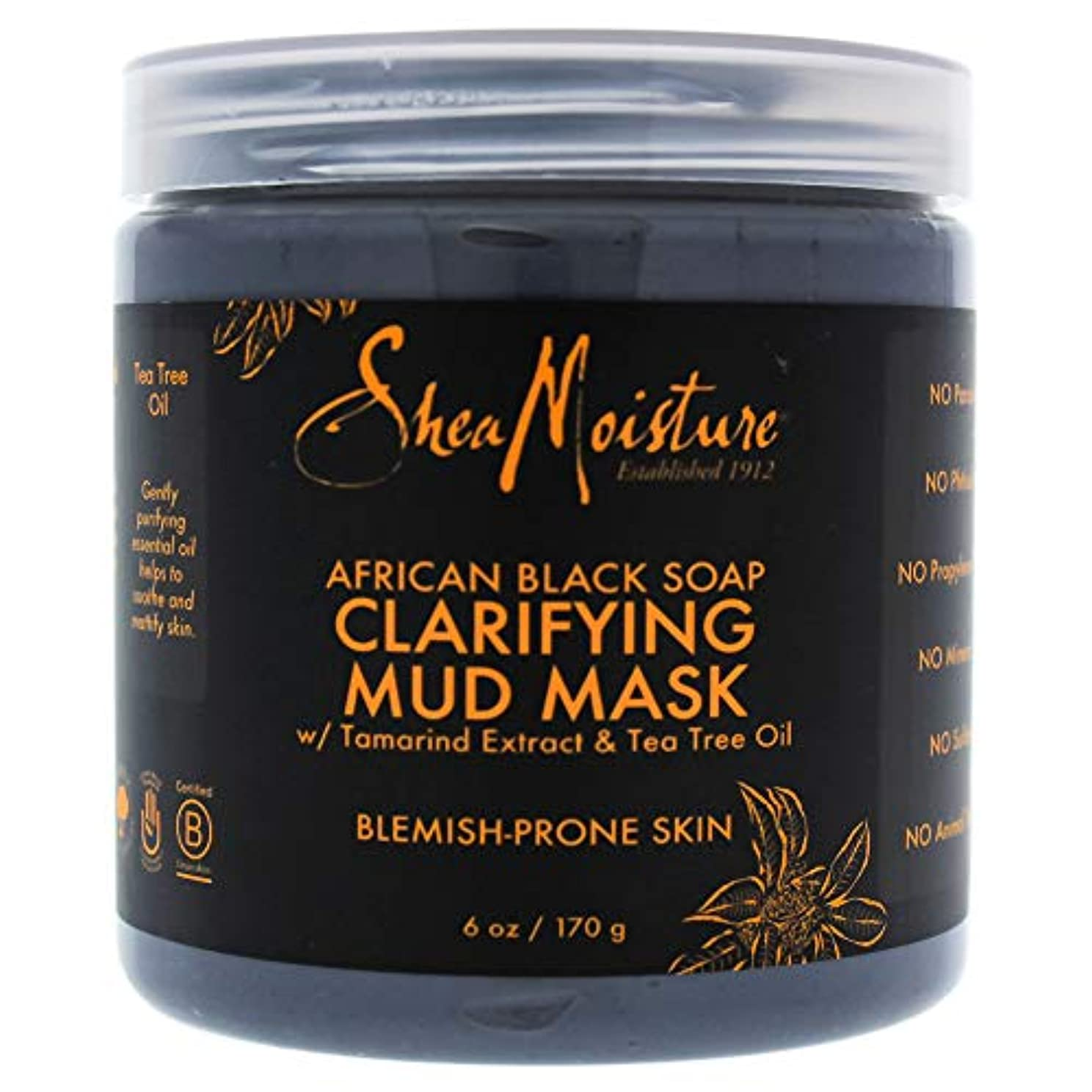 遠足亡命スコットランド人African Black Soap Clarifying Mud Mask