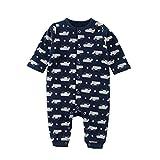 Baby Nest ベビー服 男の子 長袖カバーオール 新生児 赤ちゃん 長袖ロンパース コットン クルマ 9-12M