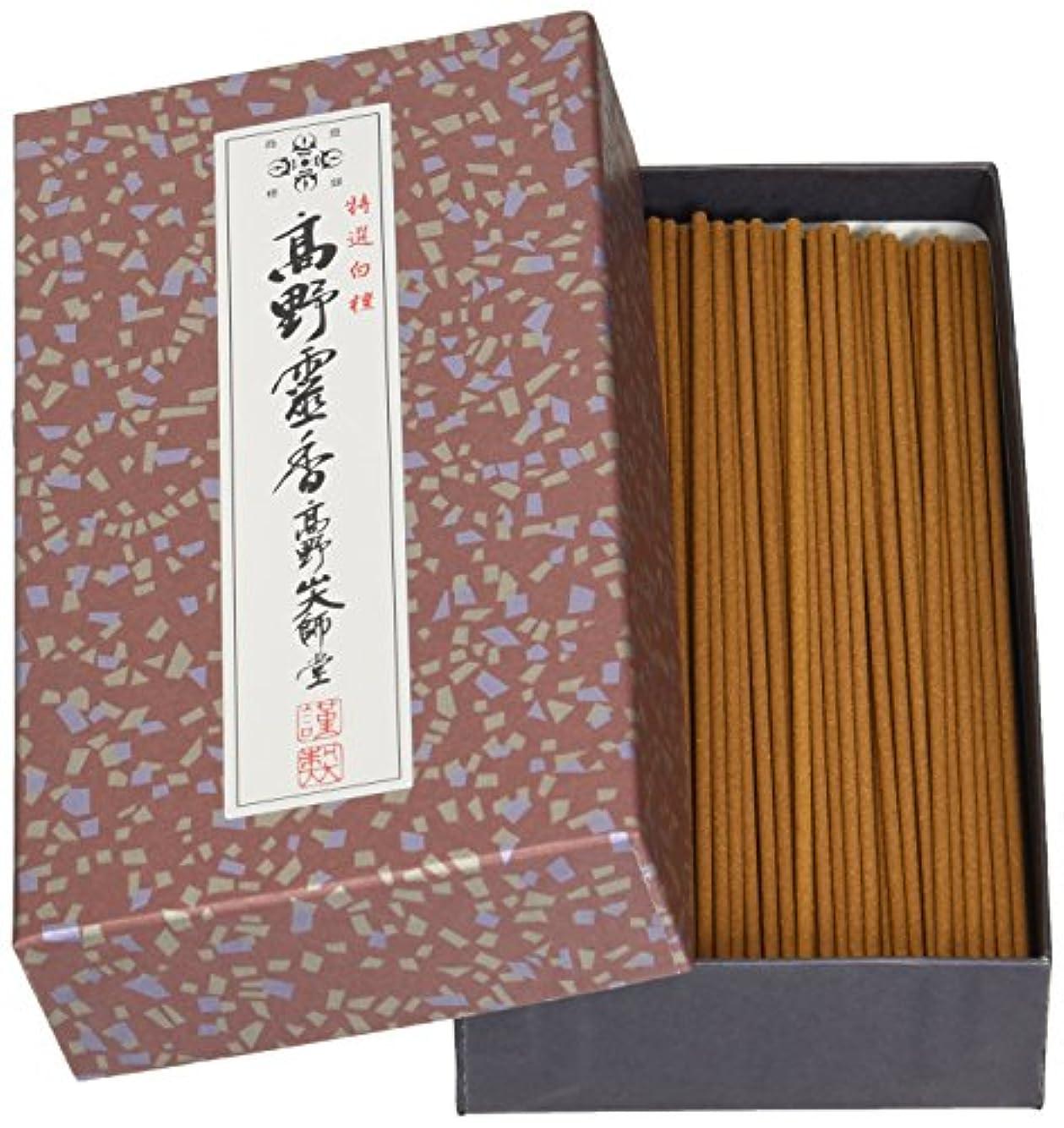 スロープかけがえのないメニュー高野山のお線香 特選白檀高野霊香 5寸13cm 大箱