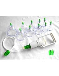 【ノーブランド品】カッピング 吸い玉 ツボ刺激 血流促進 こり解消 点穴 磁気 刺激 延長チューブ付属