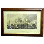 ナポレオン トラファルガーの海戦画額絵 イタリア輸入インテリア 58-SE88