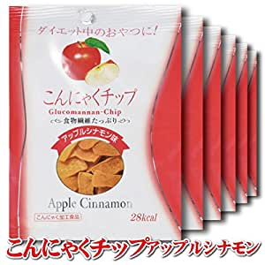 こんにゃくチップ アップルシナモン味 6袋セット(17g/袋)