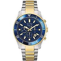 Bulova Men's 98B230 Marine Star Analog Display Japanese Quartz Two Tone Watch