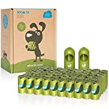 Earth Rated Dog Poop Bags, 900 Extra Thick and Strong Biodegradable Poop Bags for Dogs, Guaranteed Leak-proof, Unscented, 60 Rolls, 15 Doggy Bags Per Roll, Includes 2 Dispensers for Dog Leads