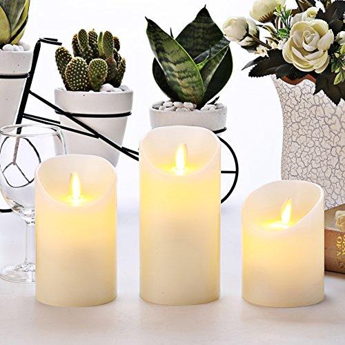 RoomClip商品情報 - Homemory 高級 LEDキャンドル ライト 3個セットろうそく 電池式 祈願や結婚式、教会 【S・M・L 3個セット】