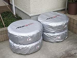 MZRacing タイヤカバー Lサイズ 1台分 4枚セット 9G04 AS 1525 L