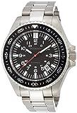 [ブルッキアーナ]BROOKIANA 腕時計 【Amazon.co.jp限定】 日本製自動巻ムーブメント NH35搭載(手巻付) カプセル夜光 デイト表示 シルバー×ブラック BAA1801-SVBK メンズ