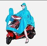 メンズ ピーコート 家庭@ シングルレインコート肥厚オートバイレインコート電気自動車レインコート男性と女性アダルトユピー ( 色 : Lake Blue )